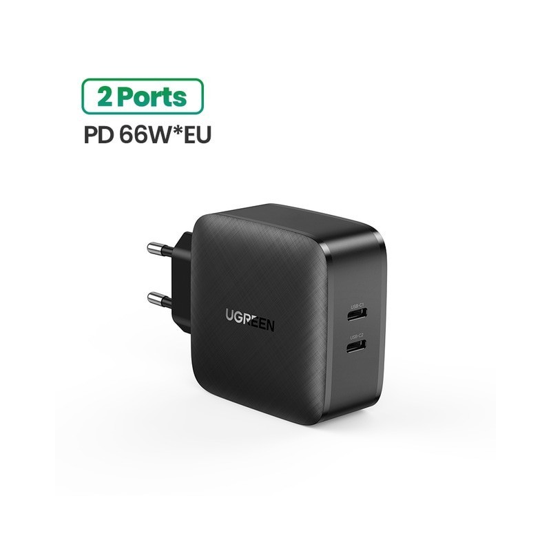 Ugreen 65W Gan Charger Quick Charge 4.0 3.0 Type C Pd Usb Charger Met Qc 4.0 3.0 Fast Charger voor Iphone 12 Pro Xiaomi Laptop