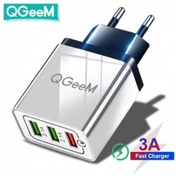 Qgeem 3 Usb Charger Quick...