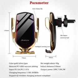 Smart Sensor Automatische Spannen Auto Draadloze Oplader Stand Luchtuitlaat Multifunctionele Telefoon Houder Auto Draadloos Opla