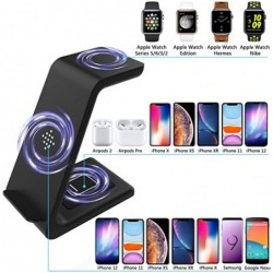 3 In 1 Draadloze Oplader Station Qi 15W Snelle Apple Wireless Charging Stand Dock Voor Iphone 12/11/8 pro Max Airpods Iwatch Sam