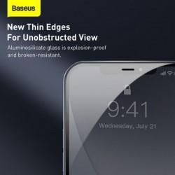 Baseus 2Pcs 0.23Mm Gehard Glas Voor Iphone 12 11 Pro Xs Max Xr X Volledige Cover Screen Protector voor Iphone 12Pro Max Glas Fil