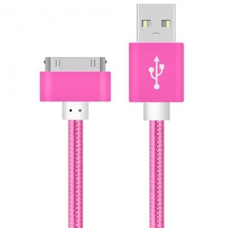 Voxlink Usb Kabel Nylon Gevlochten Snelle Charge Kabel Voor Ipad 1 30 Pin Metalen Plug Sync Gegevens Usb Charger Cable voor Ipho