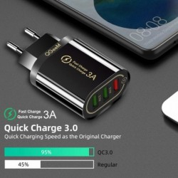 Qgeem Quick Charge 3.0 3 Usb Charger Voor Iphone Snelle Oplader Voor Xiaomi Qc 3.0 Draagbare Telefoon Oplader Opladen Adapter