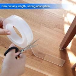 1/2/3/5M Herbruikbare Dubbelzijdig Klevende Nano Traceless Scotch Dubbelzijdige Tape Verwijderbare sticker Adhesive Loop Lijm Ga