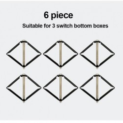 1 Set 10 Stuks wall Mount Switch Box Reparatie Tool Secret Stash 86Mm Switch Cassette Hersteller Ondersteuning Staaf Elektricien