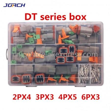 250Pcs Deutsch Dt Serie Waterdichte Draad Connector Kit DT06-2/3/4/6S DT04-2/3/4/6P Automotive Sealed Plug Met Pins Box