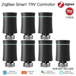 Moeshouse Zigbee Thermostaat Tuya Radiator Actuator Valve Smart Programmeerbare Trv Temperatuur Controller Alexa Voice Control N